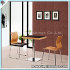 Classic KFC fast food wood table chairs cheap restaurant furniture (SP-CT507)