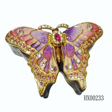 Lively butterfly shape gift box jewelry wholesale