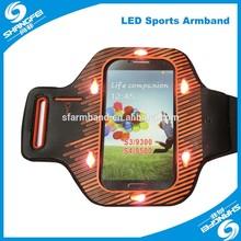 1-008 dark yellow led armband for running