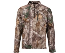 camo pattern high quality 1/4 zip pullover for men