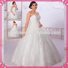 Guangzhou Stephanie Wedding Dress A6936 Top bride Sweetheart Neckline Heavy Beaded Tulle Fabric Saudi Arabian Wedding Dress