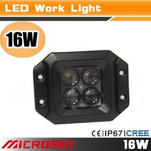 16w led work lights for truck 12V 24V SUV Fog Boat 4X4 Driving Lamp Spot Flood Combo