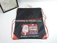 Commercial 210D Polyester Backpack Nylon Draw String Bag