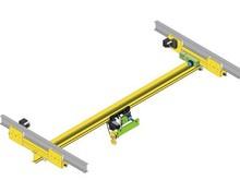 LX type 0.5-5t motor driven single beam suspension overhead crane
