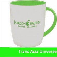 Popular Logo printing white ceramic mug company gift