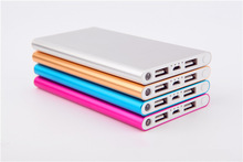 Ultra thin Lithium Polymer Power Bank 20000mah with LED flashlight