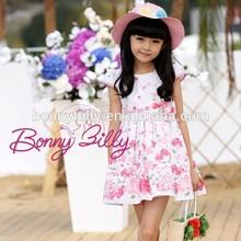 fashion lovely dresses,fresh floral cotton children girls dresses ,imported childrens clothing