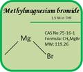 Grignard reactivos- número cas 75-16-1 methylmagnesium 1.5m bromuro en thf