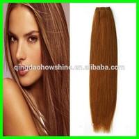 Wholesale Top Fashion stock straight brazilian human hair weave #30 color