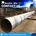 Espiral de acero soldado de tuberías/para tubo de la estructura del proyecto