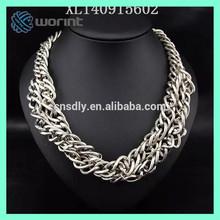 Wholesale latest design crystal ball woven shamballa necklace