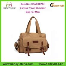 Fashion Blank Cool Men Canvas Shoudler Bag Canvas Travel Shoulder Bag For Men