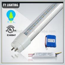 High lumens 180 minutes 100-277V external driver emergency led tube battery back-up t8 for parking lot