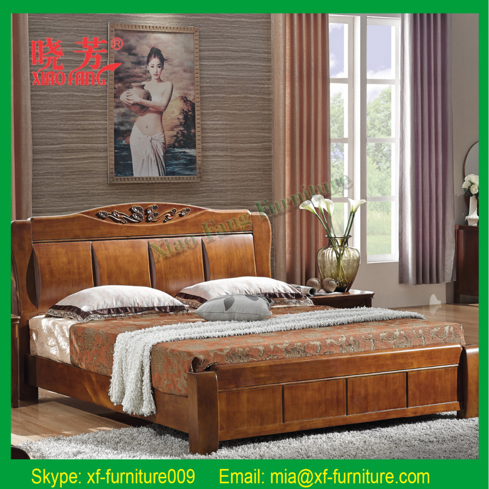 2015 china new product wood double bed designs carved for Double bed new design