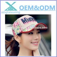wholesale fashion custom gilr's sun visor baseball cap