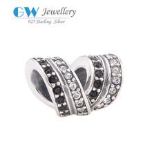 Fashionable European Style 925 Sterling Silver Jewelry Rhinestone Crystal Charm Wholesale Bracelet