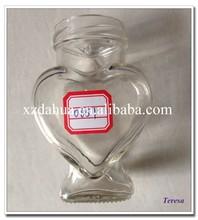 hot selling wholesale heart shaped glass bottle