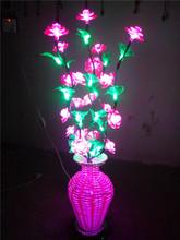 China Manufacturer Modern Toy quality Energy Saving Beautiful Decoration led illuminate flower vase