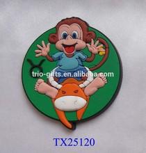 cute PVC monkey and bull magnet