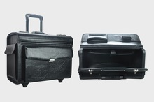 2014 new arrival black wheeled trolley pilot case 8025A140005