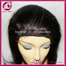 100% cheap human hair european hair cheap jewish band fall wigs