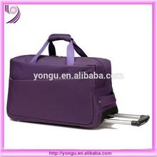best selling polyester travel bag purple trolley bag