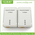 EDUP EP-5515 200Mbps Home Plug AV mini wireless 3g ethernet bridge homeplug oem powerline ethernet adapter