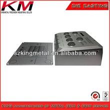 Aluminum die cast painting and silk screen enclosure