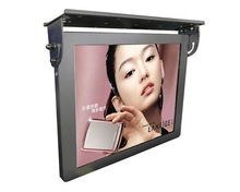 19 inch bus LCD monitor network advertising totem player with mounting bracket