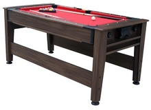Factory manufacturer stock retail wholesale indoor family use 2 IN 1 ROTATE ROLLING AIR HOCKEY POOL TABLE
