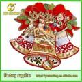 Decoraciones de navidad nuevo/varios jingle bells corona de flores