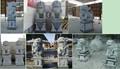 sculptures en pierre lion jardin