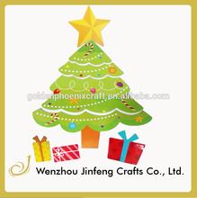 paper refrigerator magnet christmas tree gift box design decoration