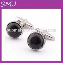 Low price black round cufflinks
