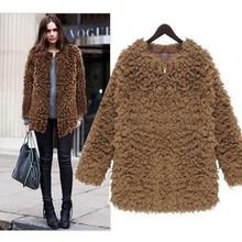 Women Long Hooded Coat Warm Autumn Winter Jacket Cardigan Plush Fleece Jacket SV006040#