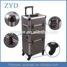 Aluminum Hairdressing Box Gray Hair Stylist Tool Case