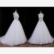long tail ball gown wedding dress mermaid high neck