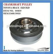 toyota hiace 1KD 2KD crankshaft tensioner pulley 13408-30010