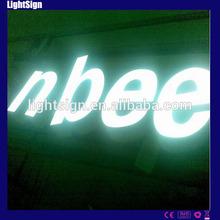 Cartas de resina de la alfabeto en una carta display de fibra de vidrio de la resina