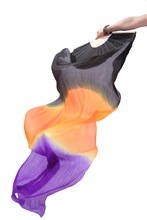 2014 negro / naranja / púrpura. Venta al por mayor del vientre de seda de la danza velo. Hermoso de seda para bailarina, 180 cm * 90cm. Qxf005