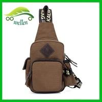 New style chest pack leisure cavans shoulder bag