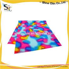 Color diffusion smudge pattern dye sublimation print magic bandana