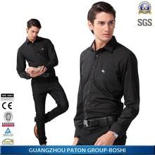 Mens Business Dress Shirts Full Dark Black Color Slim Fit Shirt