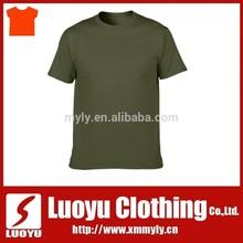 100% cotton military blank tshirt