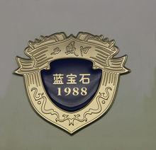 epoxy dome sticker, gold epoxy metal label