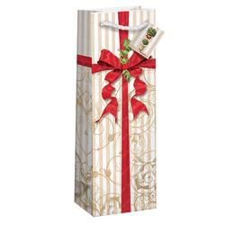 recyclable kraft paper jute wine gift bag
