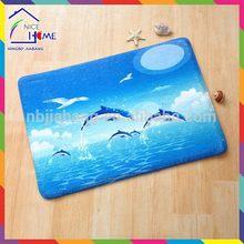 Dolphin fashion best sell plain kids carpet/ kinds mat