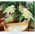 Animal decoração home mini lark mão- pintado em madeira escultura de flores em uma variedade de forma aleatória