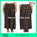 Longo maxi plissadas impresso saia novos chevron ziguezague impressão longo maxi saia / mulheres saia / mulheres roupas