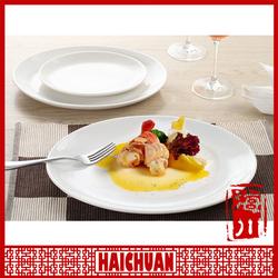 Wholesale ceramic white dinner plate,ceramic pie plate,divided dinner plate ceramic